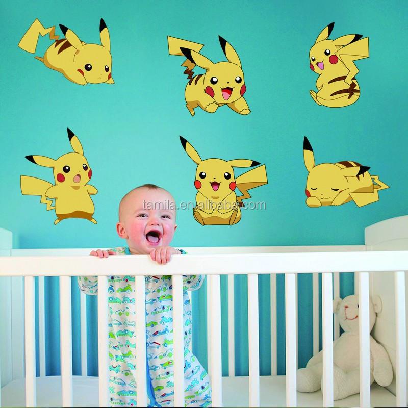 2016 만화 게임 피카츄 포켓몬 이동 벽 스티커 아이 방 어린이 ...
