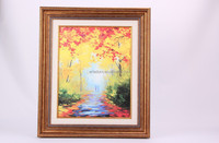 Morden abstract painting fall scenery with classical gold large framed painting