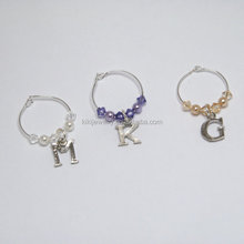 Party Design New Fashion Custom Your Own Letter Charm Wine Glass Charms