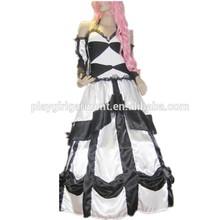 Blanco y negro de hadas princesa trajes de carnaval pfnc- 0093