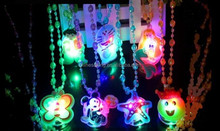 glowing necklace for kids 2015 Christmas new hot items Customized Christmas day jewelry for promotion gifts