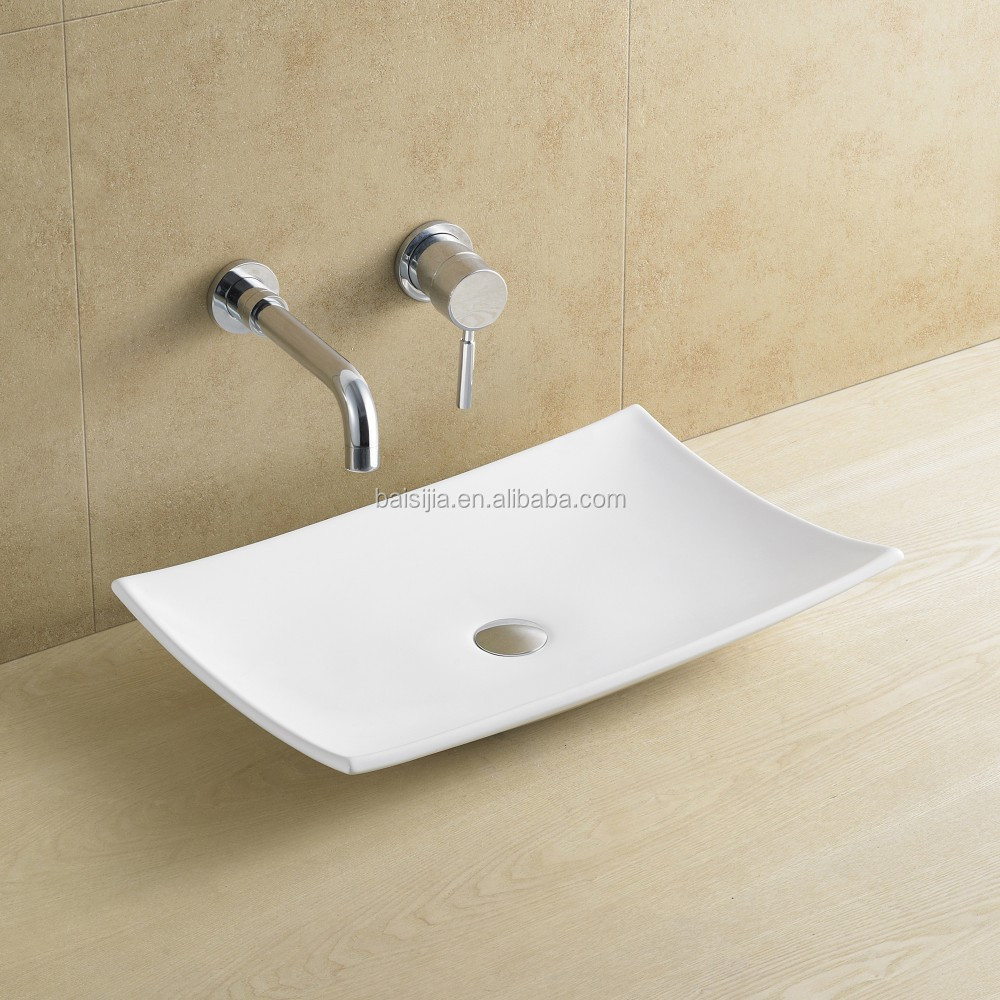 high quality no faucet hole bathroom vanity basin ceramic