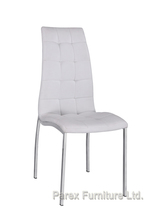 Hot selling white leather metal dining chair