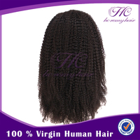 Alibaba express Full lace curly human hair wig