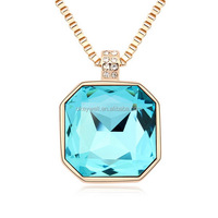 N775 Hot sale gold plated alloy necklace magnifying glass necklace Fashion new design statement necklace Free shipping