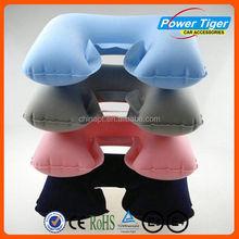 pvc flocking air neck pillow soft plush neck pillow