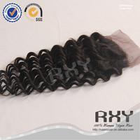 10 10 10inch brazilian virgin hair deep curly hair with three 3 way lace closure