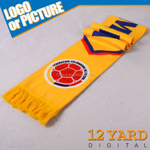 Nation customized-made scarf polyester printed sport neck shawl for fans