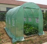 Steel Mini greenhouse zipper door W2xL3xH2m