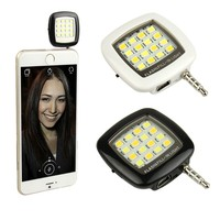 Mini Portable 16 LED Camera Fill-in Flash Light For Cell Phone Tablet Camera