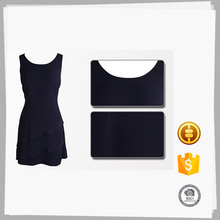 Novo estilo Custom pintado preto vestidos de festa para mulheres