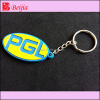 cheap custom fashion pvc keychain with embossed logo