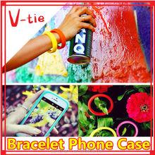The reliable reputation Factory Outlet bracelet shaped carbon fiber cell phone case