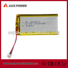 P583573 Lipo battery Rechargeable Lithium Polymer Battery 3.7V 1500mAh