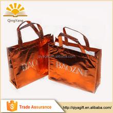 China Wholesale fashion silver laminated non-woven tote bag