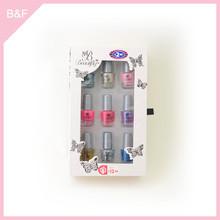 9pk nail polish set,nail polish bottle, nail art eyes lips face cosmetic brushes
