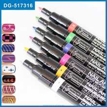 2015 new hot design 16 colors polish drawing nail art pen as seen on TV