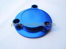 anodized blue aluminum cover cap cnc machining parts