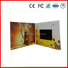 """customize 2.4""""/2.8""""/3.5""""/4.3""""/5""""/7""""/10"""" inch Halloween/Christmas LCD video card CE/ROHS mini business gift video brochure"""