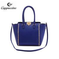 Guangzhou 2014 wholesale Ladies Studded Structured Women Handbag Fashion Handbag manufacturer