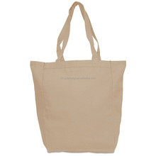 Stripe custom cotton canvas beach tote bag