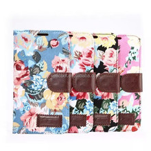 Flower Design Book Leather Case for Samsung Galaxy S6 Edge G9250