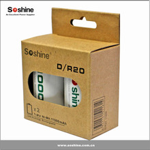 Newest Soshine D/R20 Size 1.2v Norminal Voltage nimh rechargeable battery size d 1.2v 11000mah