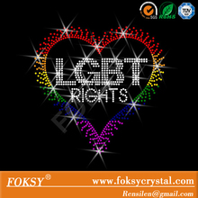 Rhinestone Transfer LGBT equality and rights Heart Hotfix Iron On