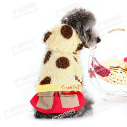 New fall&winter pet clothes Sexy plush coat jacket-skirt pet apparle dog products
