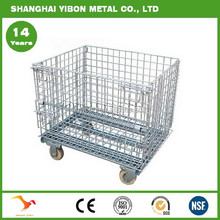 Warehouse Steel Galvanized Folding Wire Mesh Cage Storage Cage