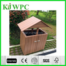 Eco-friendly Wood Plastic Composite dustbin wpc dustbin