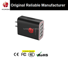 Original Manufaturer with CE FCC and ROHS Approval 5V Intelligent 4 Port Wall Charger for Phone and Tablet