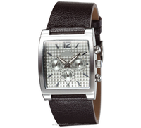 fashion watches for men, square and genuine leather quartz man watch