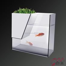 Large acrylic fish aquarium tank with divider