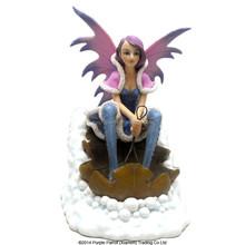 Fantasy Snow Fairy Riding Leaf Sleigh/resin fairy figurines