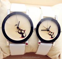 Cute cat couple quartz watch,man fashion watch(SWTPR1001)