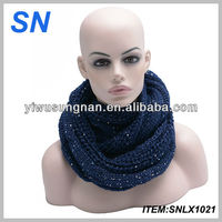 Ladies fashion sequin infinity scarf