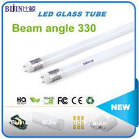 High transmittance beam angle 330 electronic ballast compatible t8 led tube bulb