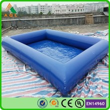 customized dark blue pvc inflatable pools for adults