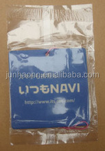 blue square shaped customized paper air freshener for car