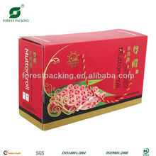fancy printed packaging waxed cardboard box for meat