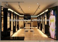 fashionable and elegant undergarments retail shop display design, shop display fashion, shop clothes rack