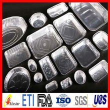 Aluminum foil food container of various sizes