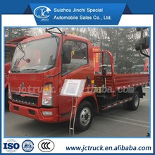 SINO HOWO 2T arm,folding lift truck,hydraulic swing telescopic crane for truck with ISO9001 certification