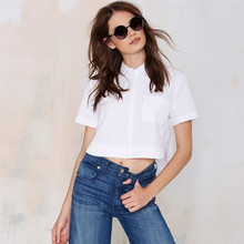 MS66932W short sleeve fashion crop women blouse top type