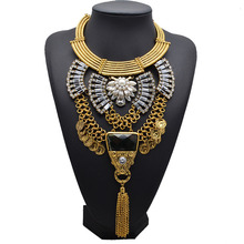 Crystal statement necklace fashion jewelry new products 2016