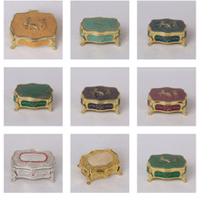 wedding decoration antique metal jewelry packaging box