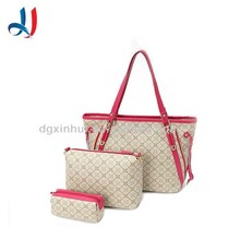Fashion european high quality pu lady shoulder hand bag