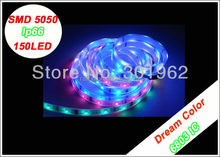Dream color IC LPD 6803 IP67 waterproof 30LED/M RGB LED strip SMD5050+Controller christmas lights W013