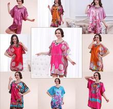 wholesale best price arabic design silk printed women sleepwear #OS120
